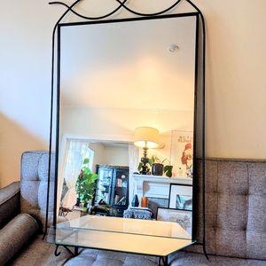 "57"" Art Deco Iron Mirror"